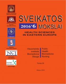 SVEIKATOS MOKSLAI - Nr. 6 (109), 2016