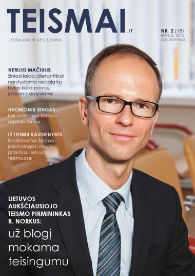 TEISMAI - Nr. 2 (18), Birželis 2015